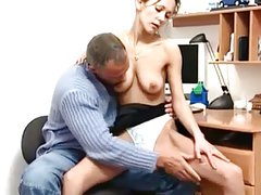 Fucked in her first day in the office