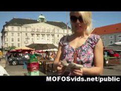 Hot blonde crazy public fuck for money 3