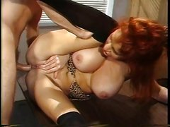 Vintage Red Head MILF Sex With Prison Guard