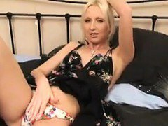 Blonde Whore Creampied By An Old Guy