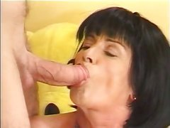 Mature lady lusts for young guy's cock