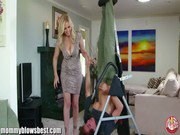 MommyBB Busty MILF Julia Ann is sucking my tied up boyfriend