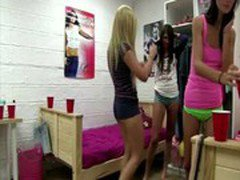 Sexy lesbians dance then grind and want to fuck