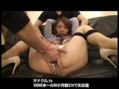 Japanese  Wife Naughty BDSM sex Hardcore fucking threesome