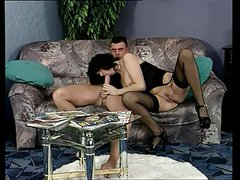 Hot darkhaired german mature sucking and fucking