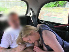Slutty milf twat pounded in the backseat for a free fare