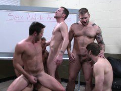 Trevor Knight in orgy with four stars
