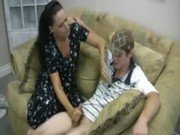 Hot Mom Giving Handjob To Her Sons Friend