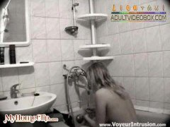 blonde-on-camera-in-her-bathroom