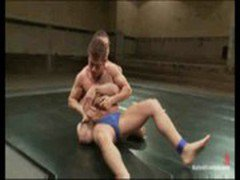 Naked male wrestling