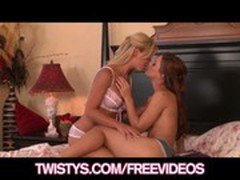 Sexy redhead Cherie Devillie plays with her HOT GF Karlie Montana