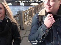 Hot pick up girl initiates the craziest threesome ever scene