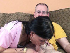 Exotic MILF Naomi Shah getting banged by a lucky geek