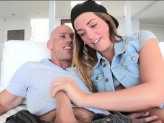 Pretty teen girl Jenna Leigh fucked and facialed by big cock