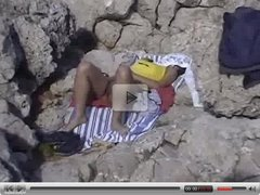 Amateur video in a nude public beach in Mallorca - hidden camera