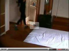 Hidden cam in hotel room - naked girl