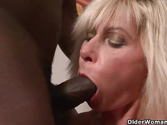 Mom gets black cock up her ass