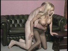 762-3 Antonia Deona strips then fucked doggystyle by olderman