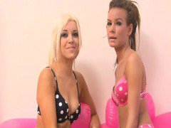 Blonde scene girl Stacey Rocks gets with her friend Kelly