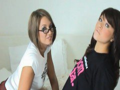 Teen lesbians Natalie and Renee have been together