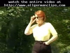 German Guy Dreaming Of Fucking A Redhead Mature In The Park  german ggg spritzen goo girls