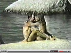 Beach sex video: ass licking
