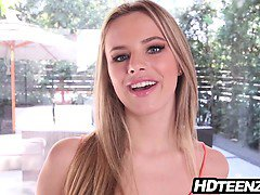 Sexy teen Jillian Janson gives amazing POV blowjob