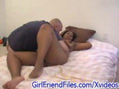 BBW Ebony in interracial sex