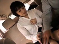 Gorgeous Japanese babe gets picked up on the street and blo