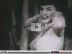Betty Page Dances Around Vintage Porn