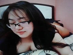 Cute chubby asian teen on cam