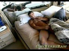 Gay Bear solo action with hot stud
