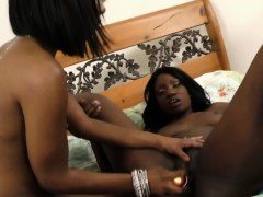 Amazingly hot ebony lesbians having some steaming hot action