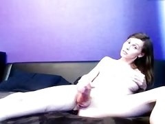 Smil tranny TS big hard cut cock big tits cumming