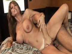 Horny MILF fuck the son to her best friend