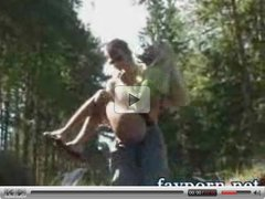 Russian outdoor sex