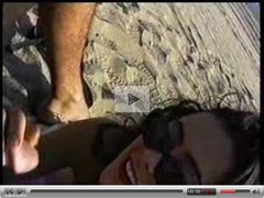 outdoor little bj on a beach