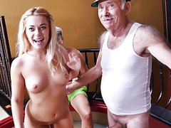 Pierced blonde taking cock in her pierced pussy ln