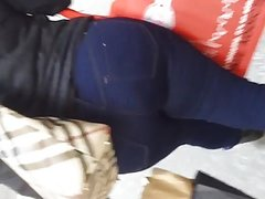 Ghetto Big Booty Milf Latina In Dark Blue Jeans