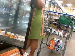 Wide hips ebony MILF in dress