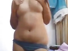 Indian girl showing body
