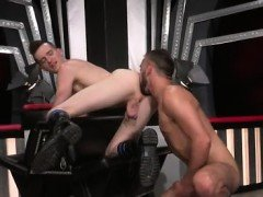 Gay fist young xxx Aiden Woods is on his back and screams to