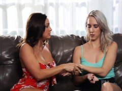 Fantastic babes Abigail and Cadence having hot lesbian sex