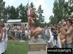 Public Sex Party with many nude Girls