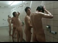 Michael Koch and others in the shower