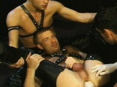 Men cumming on fists gay It's a 'three-for-all' flick