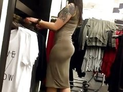 Asian in tight dress