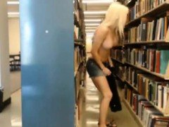 Wild Girl Goes a Little too Far in a Library