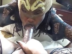 PORNSTAR TS BIG BOOTY BIANCA FUCKS GUY N  FISHNETS&HIGH HEEL