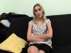 Cute blonde Laetitia fucked during a casting